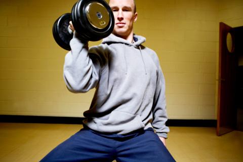 Спортивные тренировки способствуют страстному сексу