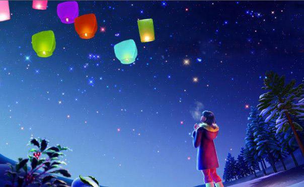 Небесный фонарик — лучший подарок для любимой
