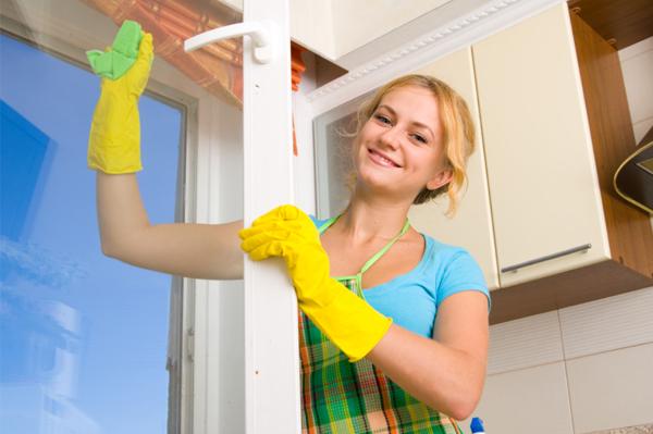 Уборка дома позволяет женщине расслабиться