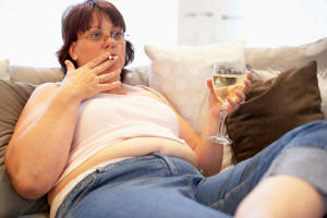 Алкоголь способствует ожирению