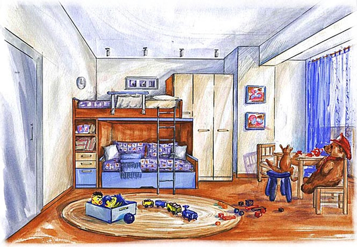 В обустройстве детской комнаты, мнение ребенка лишнем не будет