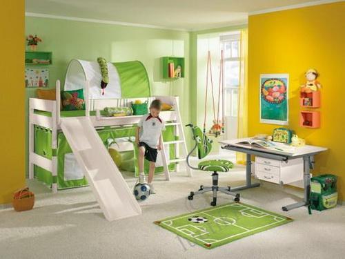 Оформление интерьера комнаты для мальчика