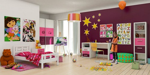 Украсим детскую: краски фантазии