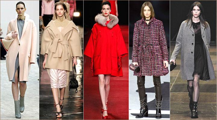 Пальто – основные фасоны