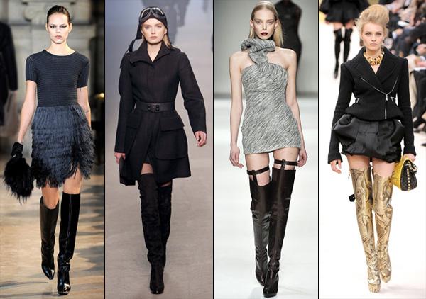 Высокие сапоги их применение в современной моде