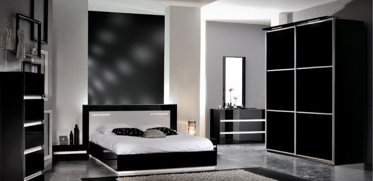 Чёрно-белые спальни. Что для этого нужно?