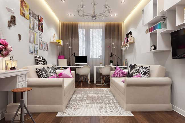 Интерьер комнаты для двух подростков